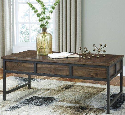 Monilee Medium Brown Occasional Table Set