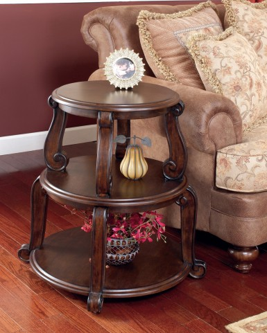 Brookfield 3 Shelves Drum Table