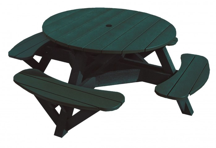"Generations Green 51"" Round Picnic Table"