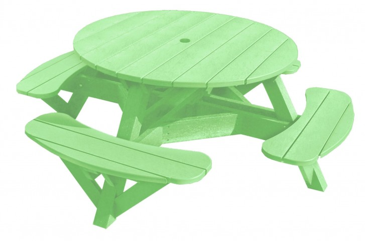 "Generations Lime Green 51"" Round Picnic Table"