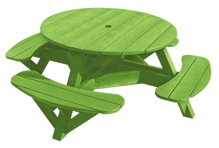 "Generations Kiwi Lime 51"" Round Picnic Table"