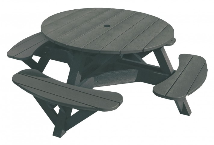 "Generations Slate 51"" Round Picnic Table"