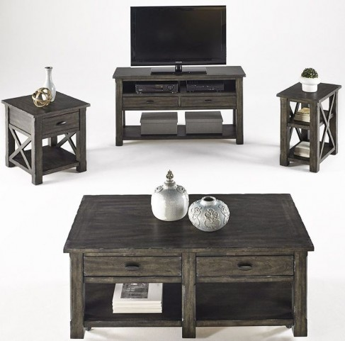 Crossroads Smokey Grey Occasional Table Set