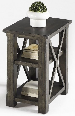 Crossroads Smokey Grey Chairside Table