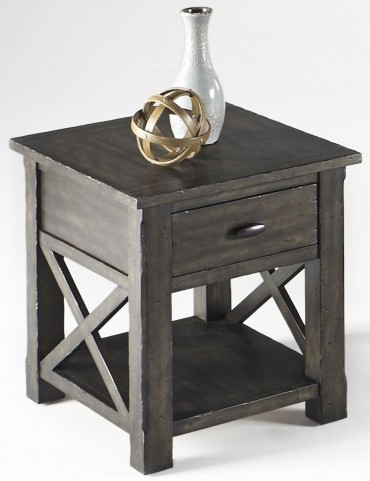 Crossroads Smokey Grey Rectangular End Table