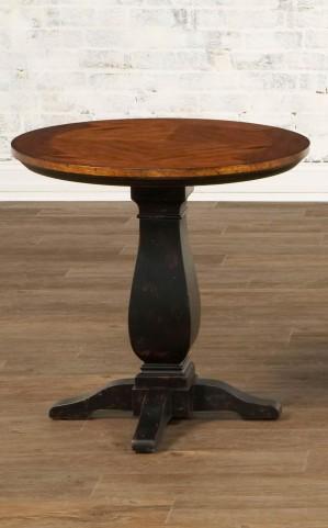 Newbury Round Pedestal End Table