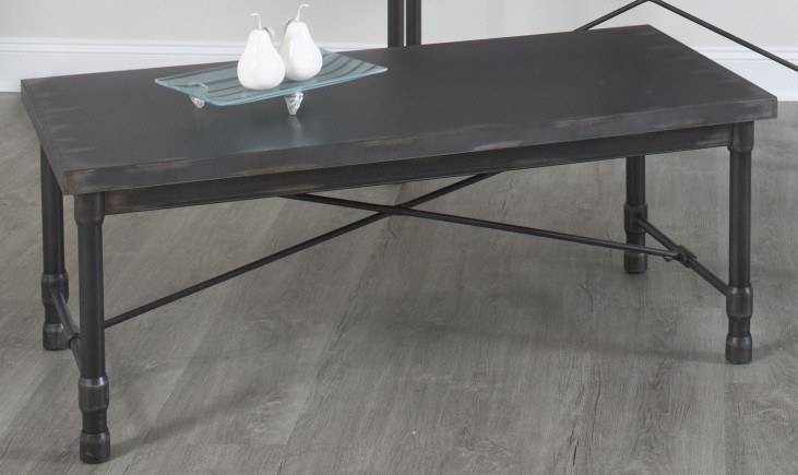 Grand Cosway Worn Black Rectangular Cocktail Table