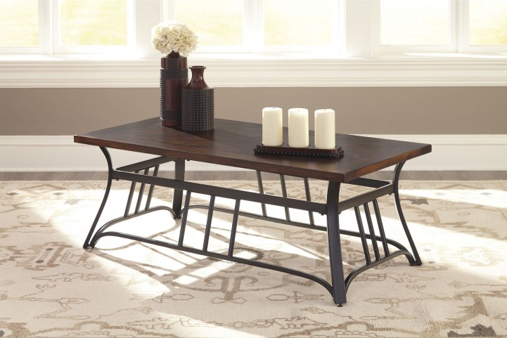 Zanilly Two-Tone Rectangular Occasional Table Set