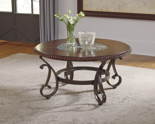 Gambrey Reddish Brown Occasional Table Set