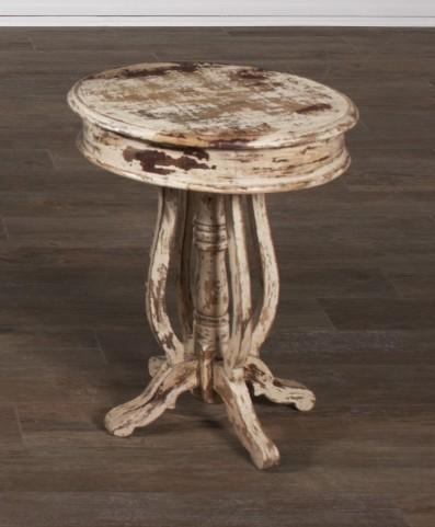 Jaipur Round Acacia End Table