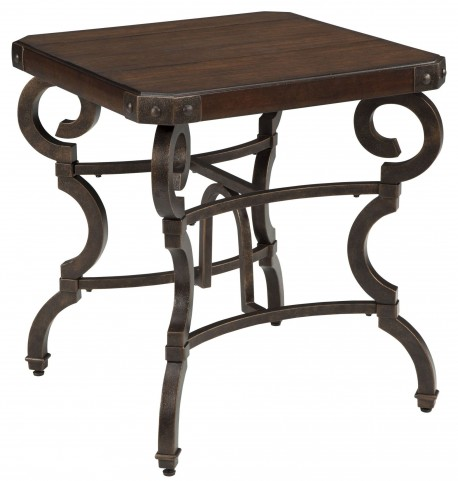 Hadelyn Brown Square End Table