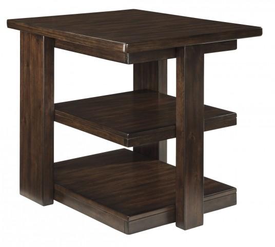 Garletti Dark Brown Rectangular End Table