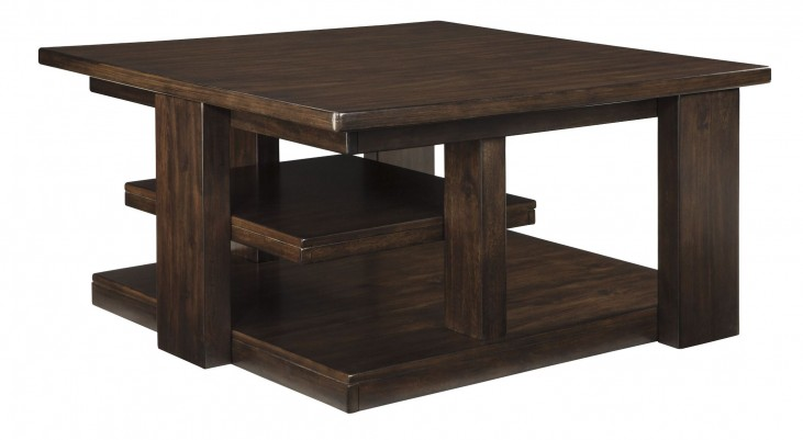 Garletti Dark Brown Square Cocktail Table