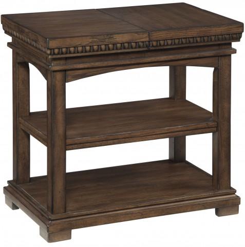 Larrenton Grayish Brown Chair Side End Table