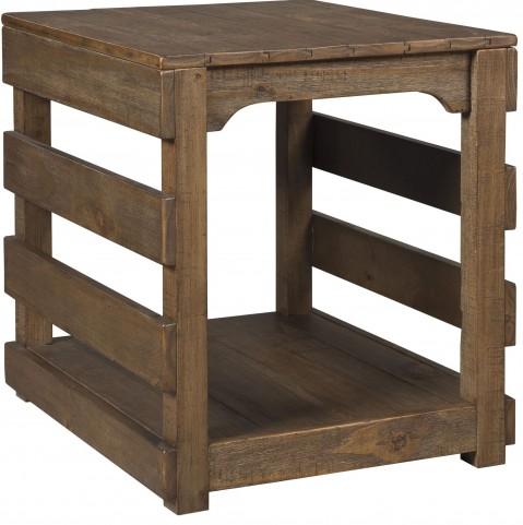Shanlore Brown Rectangular End Table