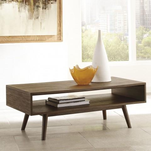 Kisper Dark Brown Occasional Table Set