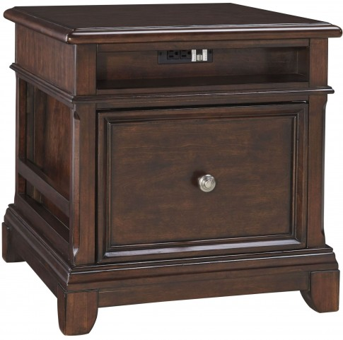 Lavidor Brown Rectangular End Table