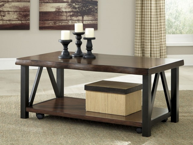 Esmarina Walnut Brown Occasional Table Set