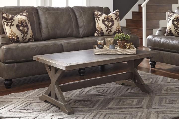 Valkner Grayish Brown Occasional Table Set