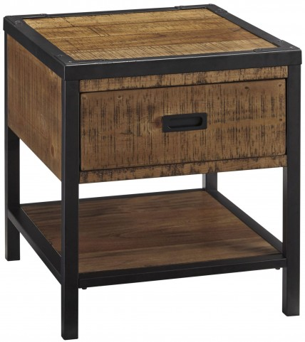 Kalean Two-Tone Rectangular End Table