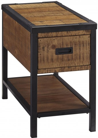 Kalean Two-Tone Chair Side End Table