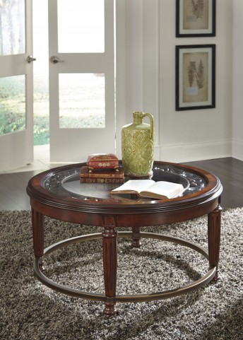 Leahlyn Reddish Brown Occasional Table Set