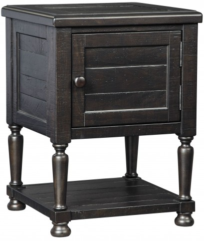 Sharlowe Distressed Worn Dark Charcoal Square End Table
