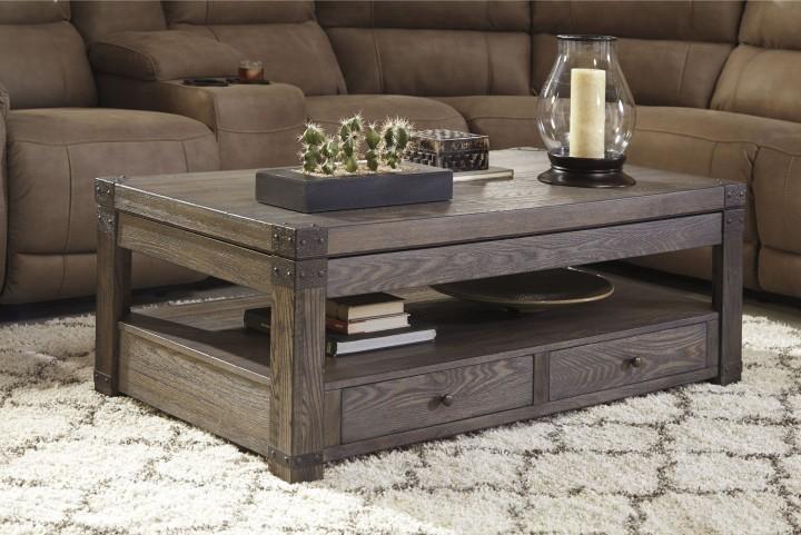 Burladen Grayish Brown Occasional Table Set