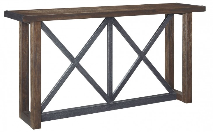 Zenfield Medium Brown Sofa Table