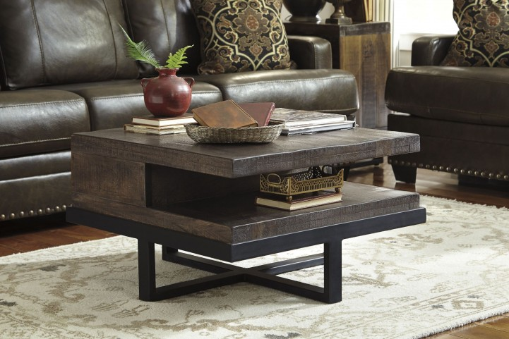 Vendol Brown/Black Occasional Table Set