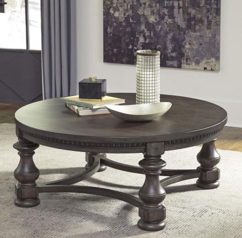 Larrenton Grayish Brown Occasional Table Set