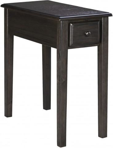 Grayish Brown Chair Side End Table