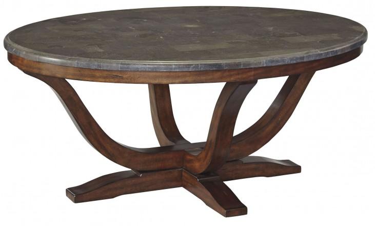 Balinder Medium Brown Oval Cocktail Table