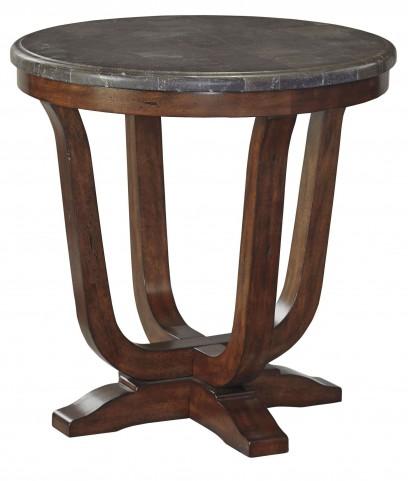 Balinder Medium Brown Round End Table