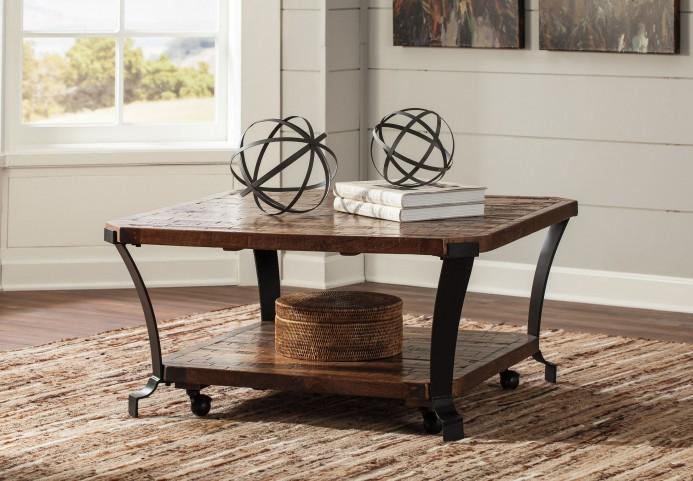 Taddenfeld Medium Brown Square Occasional Table Set