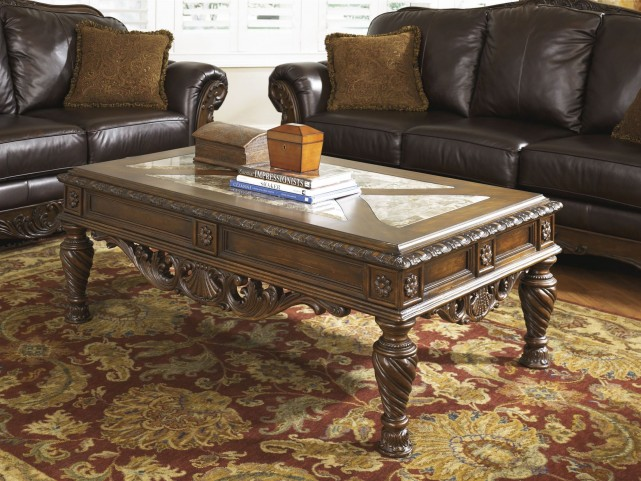 Ashley North Shore Rectangular Cocktail Table T963 1 Occasional Tables