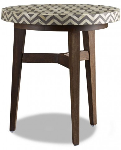 Tangier Charcoal Gray Bone End Table