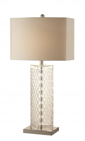 901556 Tall and Thin Clear Glass Table Lamp