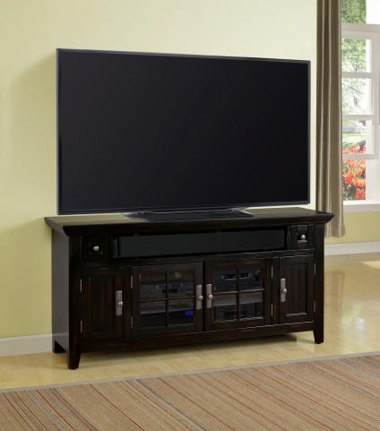 "Tahoe 62"" Vintage Black Burnished TV Console"