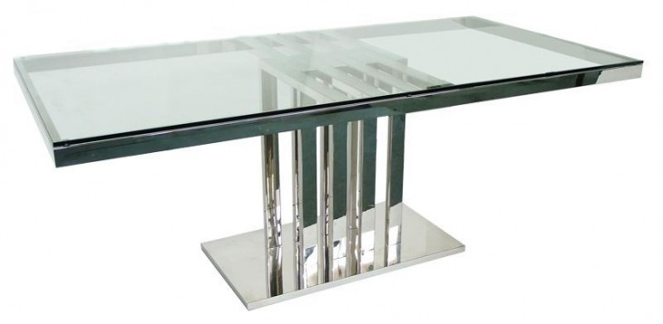Tao Clear Glass Rectangular Dining Table