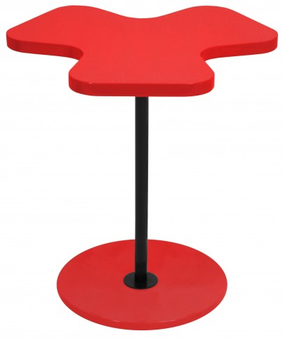 Clover Red Side Table