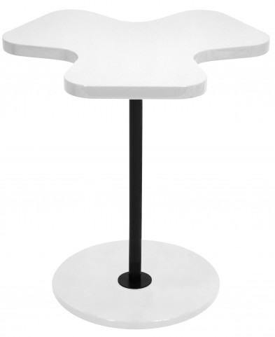 Clover White Side Table