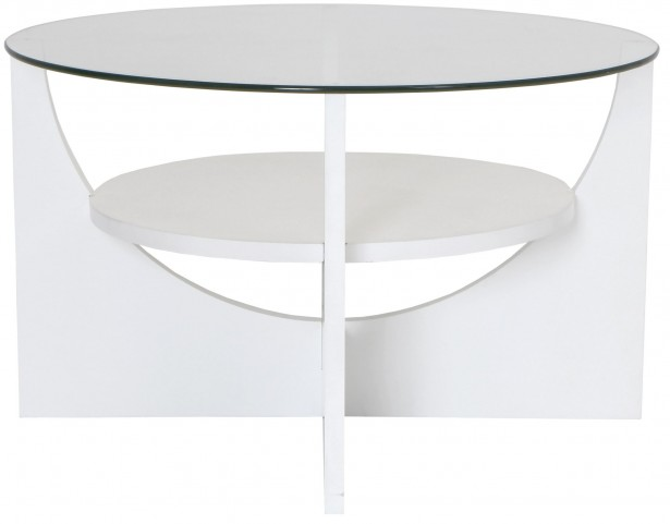 U Shaped White Coffee Table