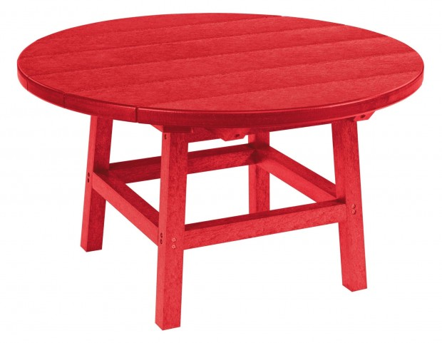 "Generations Red 32"" Round Leg Cocktail Table"