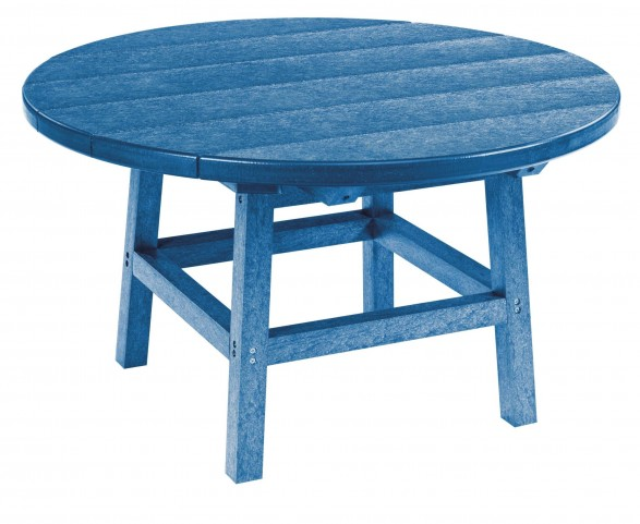"Generations Blue 32"" Round Leg Cocktail Table"