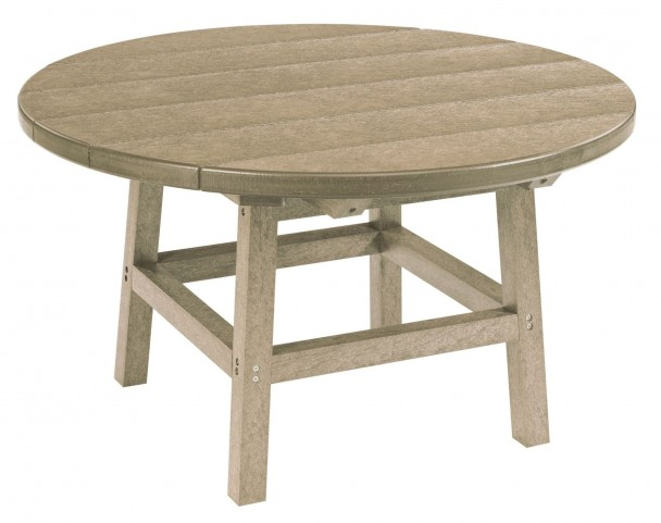 "Generations Beige 32"" Round Leg Cocktail Table"