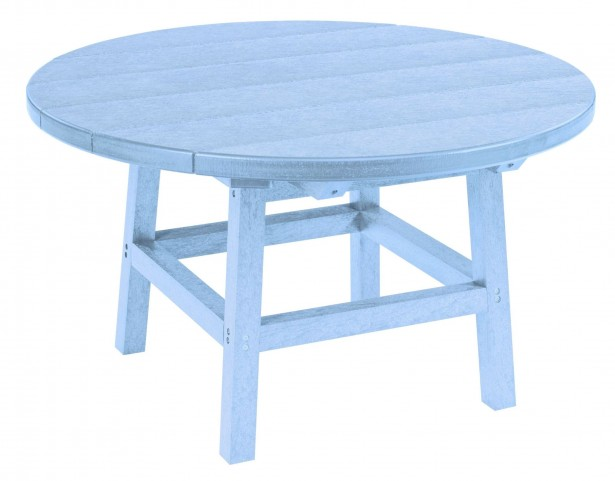 "Generations Sky Blue 32"" Round Leg Cocktail Table"