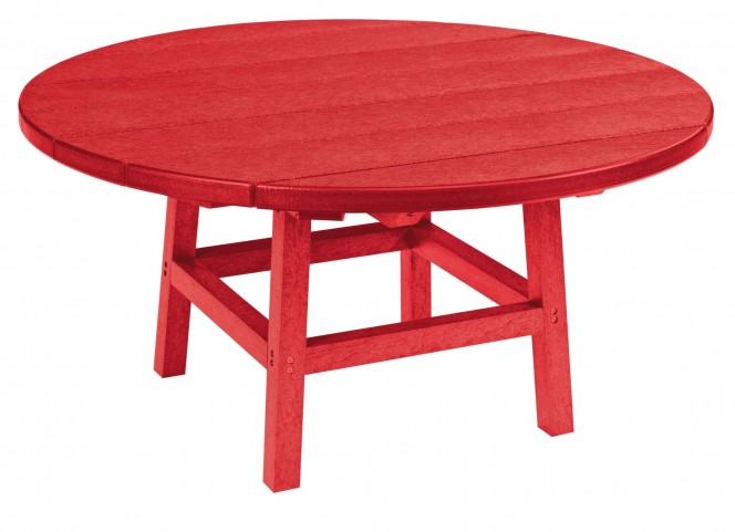 "Generations Red 37"" Round Leg Cocktail Table"