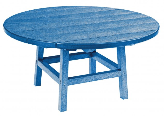 "Generations Blue 37"" Round Leg Cocktail Table"