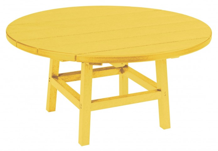 "Generations Yellow 37"" Round Leg Cocktail Table"